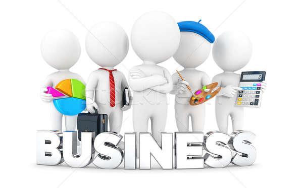 3D i bianchi business offerte di lavoro isolato bianco Foto d'archivio © 3dmask