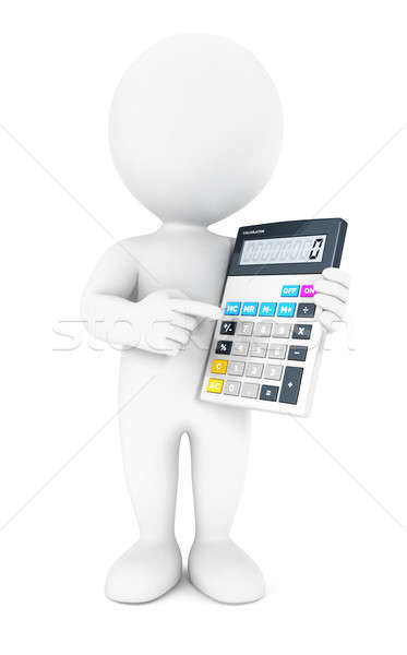 3d white people accountant Stock photo © 3dmask