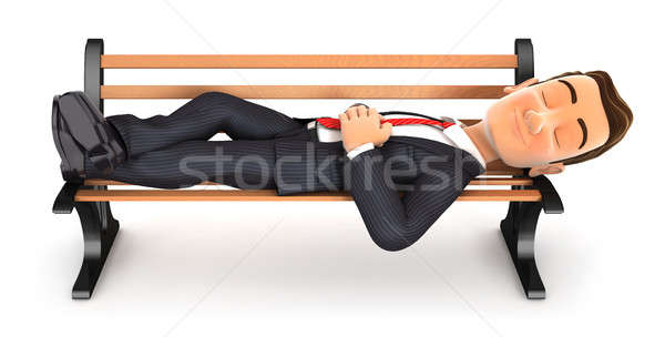 3D affaires sieste public banc Photo stock © 3dmask