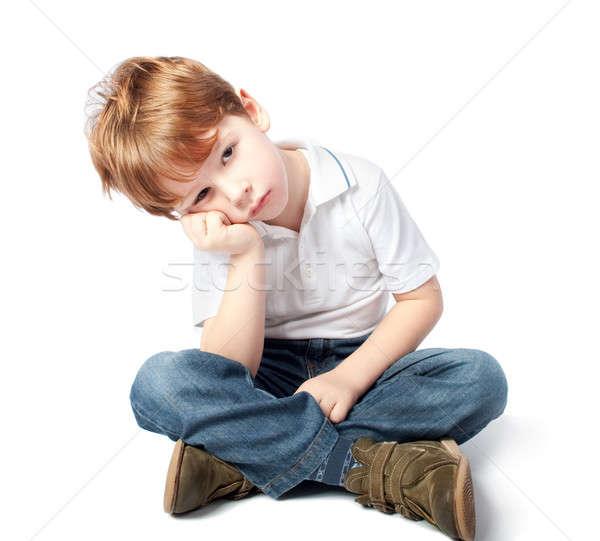 小さな 子 見える 悲しい 孤立した 白 ストックフォト © 3dvin