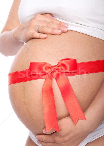 美しい 小さな 妊婦 リボン 孤立した 白 ストックフォト © 3dvin