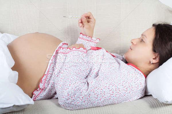 妊婦 ボディ 温度 少女 顔 女性 ストックフォト © 3dvin