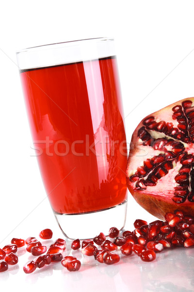 Pomegranate juice and ripe pomegranate Stock photo © 3dvin