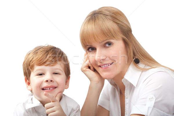 肖像 幸せ 笑みを浮かべて 母親 子 ストックフォト © 3dvin