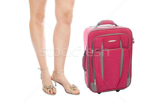 脚 旅行 スーツケース 休日 孤立した 白 ストックフォト © 3dvin