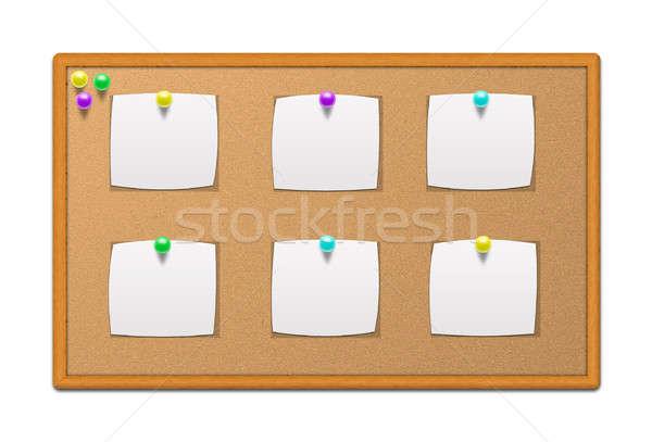 Boletim conselho artigos de papelaria papel espaço vida Foto stock © 3dvin