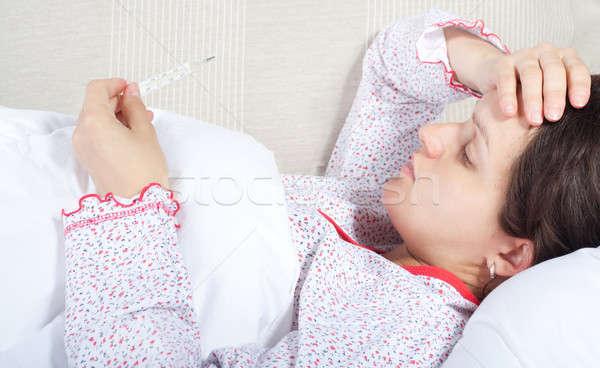 若い女性 ボディ 温度 少女 顔 女性 ストックフォト © 3dvin