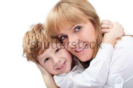 母親 幸せ 草 夏 フィールド ストックフォト © 3dvin