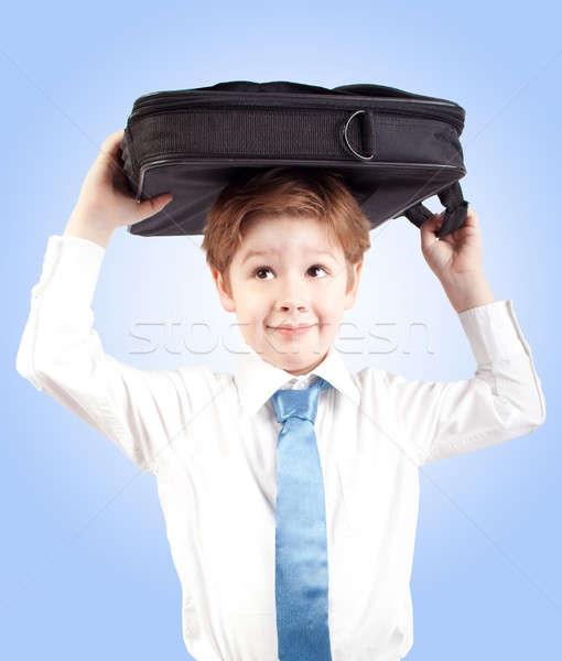 小さな ビジネス 少年 スーツケース 学校 子 ストックフォト © 3dvin