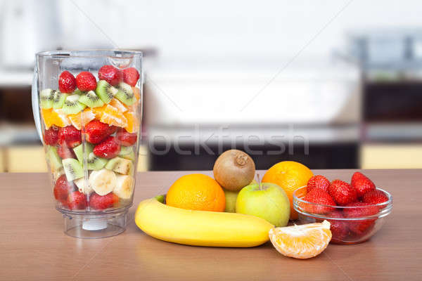 Vruchten tabel appel vruchten gezondheid zomer Stockfoto © 3dvin