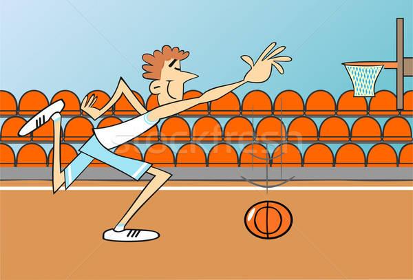 実例 スポーツ バスケットボール 背景 チーム ストックフォト © 3dvin