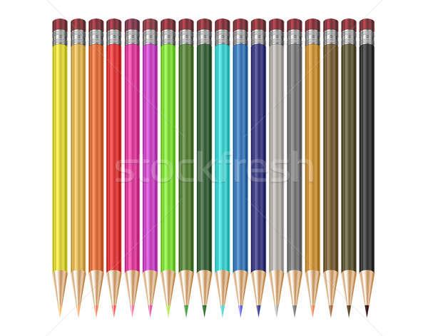 鉛筆 学校 背景 オレンジ ストックフォト © 3dvin