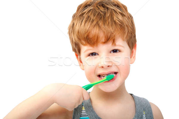 Child with toothbrush  Stock photo © 3dvin