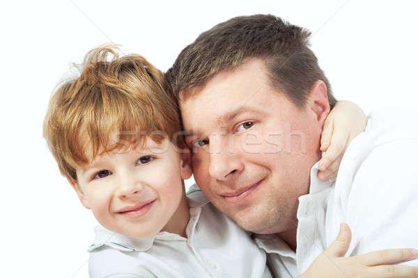 父から息子 幸せな家族 家族 家 愛 ホーム ストックフォト © 3dvin