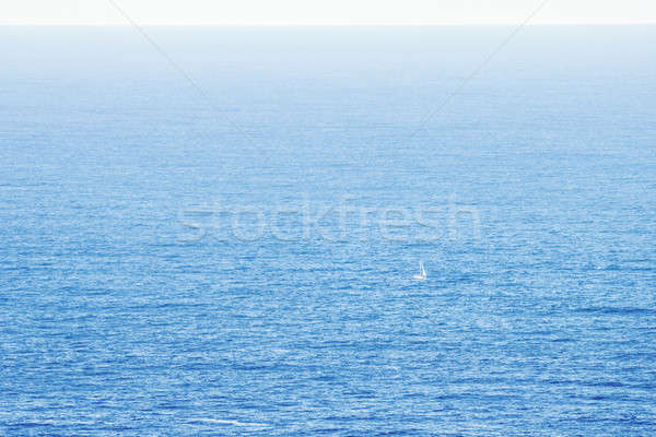Yelkencilik okyanus küçük tekne gökyüzü spor Stok fotoğraf © 3pphoto31