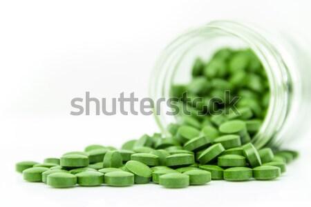 Pastillas médicos mesa tiro blanco sin costura Foto stock © 3pphoto31