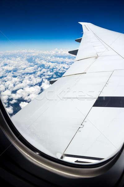 Uçak yolculuk atış mavi cennet Stok fotoğraf © 3pphoto31