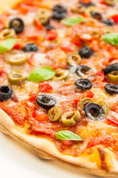 Pizza güzel renkli fesleğen Stok fotoğraf © 3pphoto31