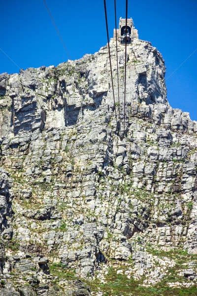 Table mountain, 7 new world wonders inside of Cape Town city Stock photo © 3pphoto31
