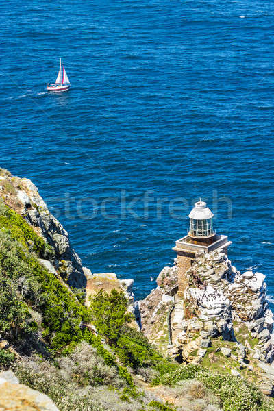 Lighthouse at Cape Town city Cape of Hope pathway Stock photo © 3pphoto31