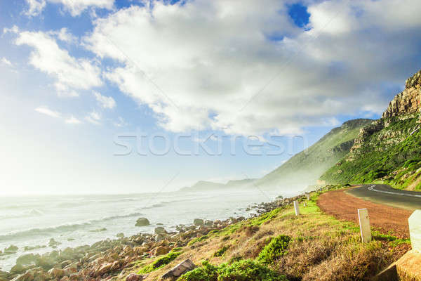 Cape Town doğa manzara okyanus plaj kıyı Stok fotoğraf © 3pphoto31