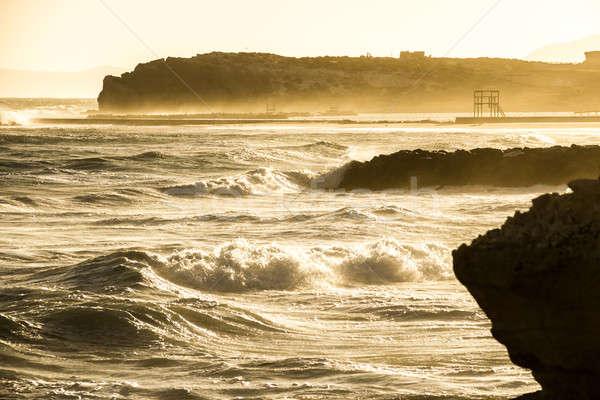 Rive falaise océan vagues plage eau Photo stock © 3pphoto31