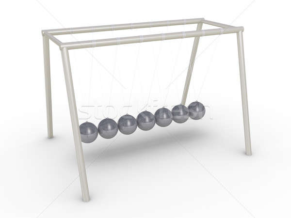 Newton's cradle without motion Stock photo © 6kor3dos