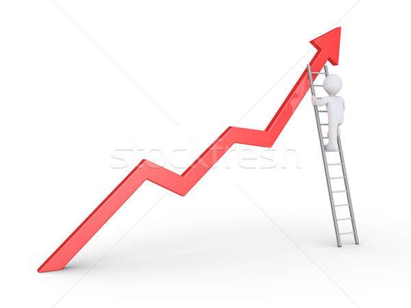 Businessman climbs to top Stock photo © 6kor3dos