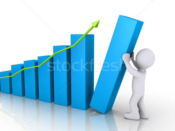 Person putting last column of chart Stock photo © 6kor3dos