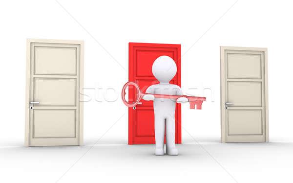 人 提供すること キー 特別 ドア 3dの人 ストックフォト © 6kor3dos