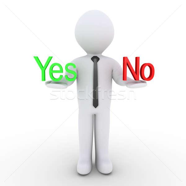 Biznesmen tak nie słowa 3D Zdjęcia stock © 6kor3dos