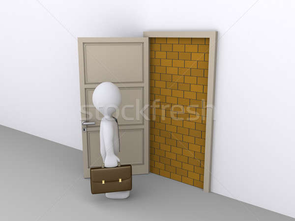 Blocked doorway and a businessman Stock photo © 6kor3dos