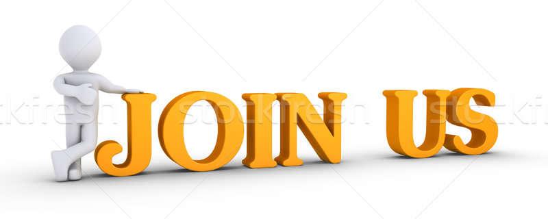 Persoon aanbieden lidmaatschap 3d persoon tonen man Stockfoto © 6kor3dos