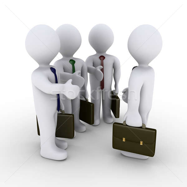 Three businessmen offer handshake Stock photo © 6kor3dos