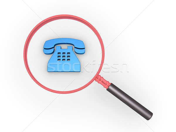 Phone call magnifier Stock photo © 6kor3dos