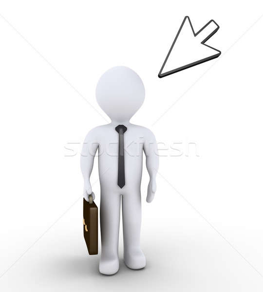 Businessman is standing and a mouse pointer Stock photo © 6kor3dos