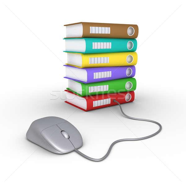 アクセス データ コンピューターのマウス 異なる フォルダ ストックフォト © 6kor3dos