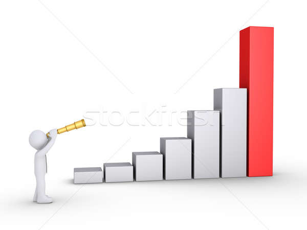 Businessman looking for good results Stock photo © 6kor3dos