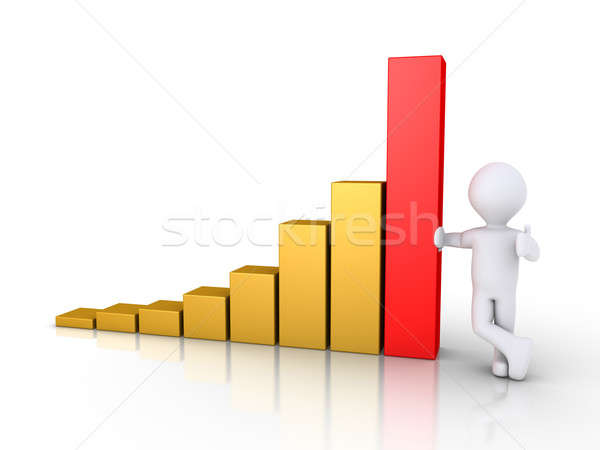 Person with a graphic chart Stock photo © 6kor3dos