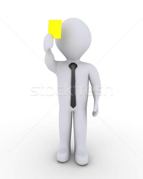 ビジネスマン 黄色 カード 3D ストックフォト © 6kor3dos