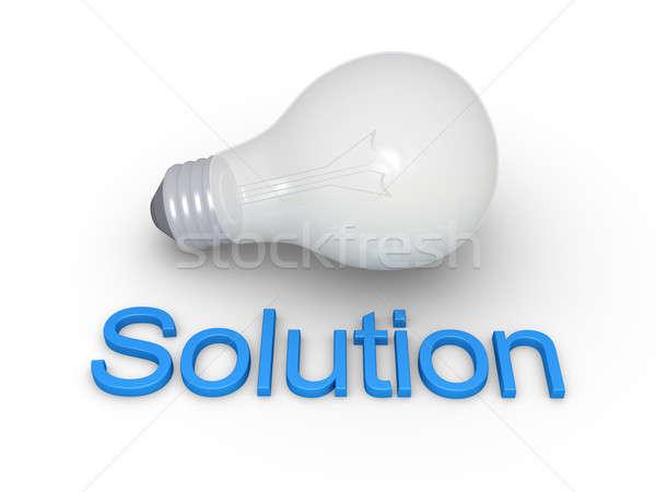 電球 ソリューション 言葉 地上 青 ランプ ストックフォト © 6kor3dos