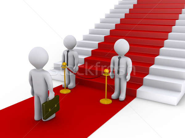 Businessman is refused access to stairs with red carpet Stock photo © 6kor3dos