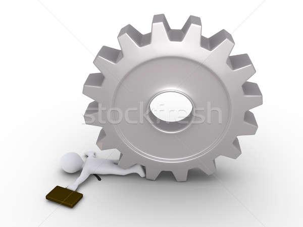 Businessman crushed by cogwheel Stock photo © 6kor3dos