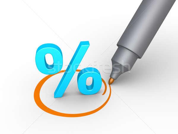 Сток-фото: процент · символ · выбранный · 3D · круга · пер