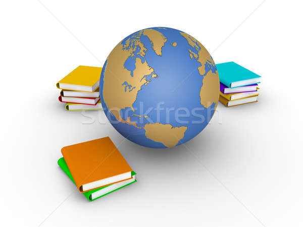 Knowledge of earth in books Stock photo © 6kor3dos