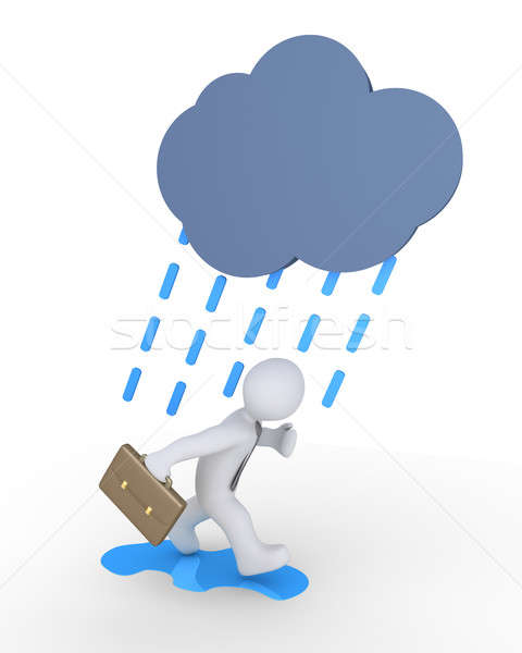 Businessman and rain Stock photo © 6kor3dos