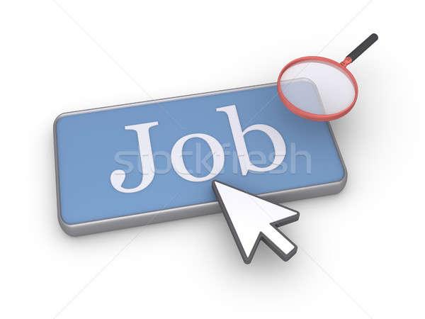 Stockfoto: Zoeken · baan · woord · knop · muis · teken