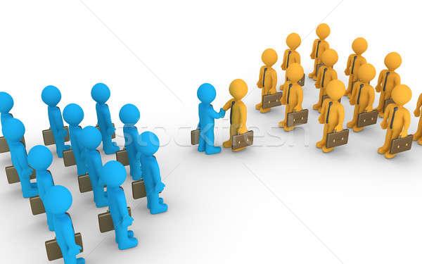 2 異なる チーム 契約 ビジネス リーダー ストックフォト © 6kor3dos