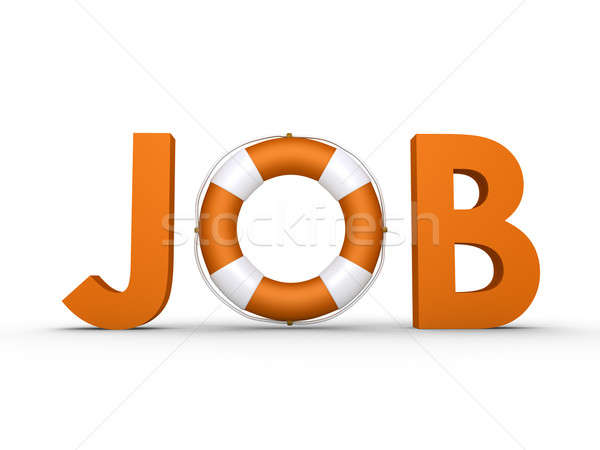 JOB word with lifebelt included Stock photo © 6kor3dos