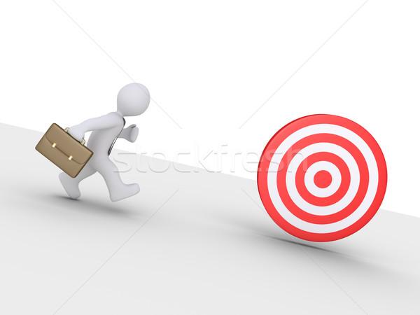 ビジネスマン ターゲット を実行して キャッチ 下がり ストックフォト © 6kor3dos
